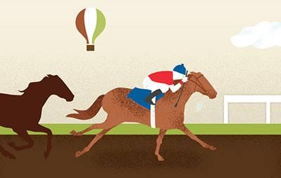 illustration of horses running