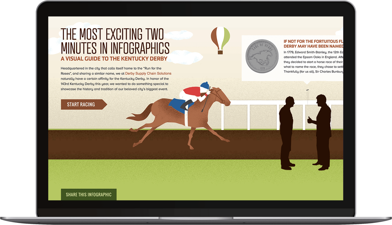 Derby LLC site on a laptop