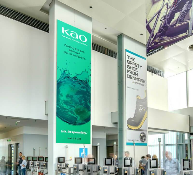 Banners designed by DBS Interactive at a conference