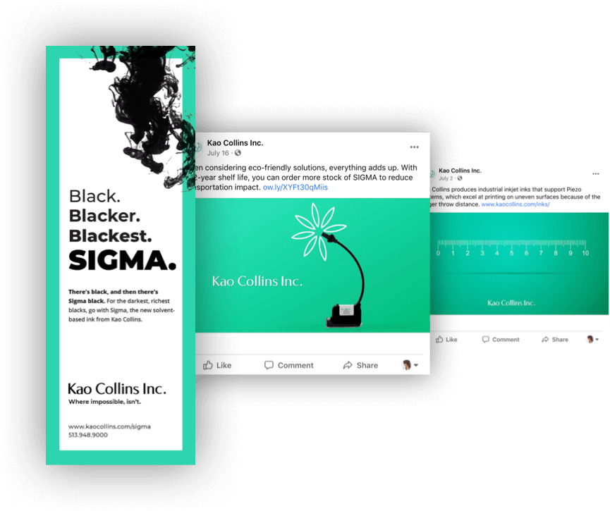 Examples of Kao social media and advertisements