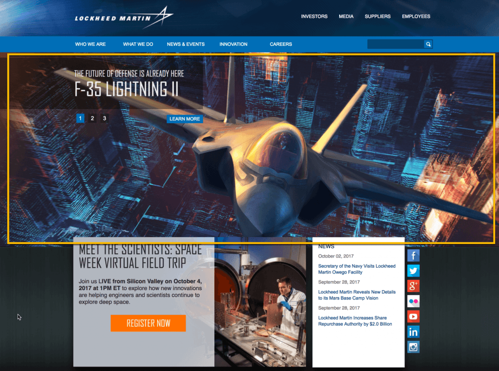 image of manufacturing lockheed website