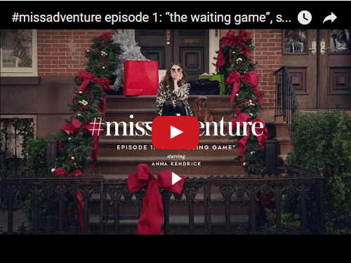 Screenshot of The Waiting Game holiday campaign.