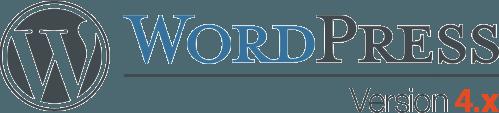 the WordPress logo for Version 4