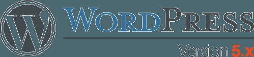 the WordPress logo for Version 5